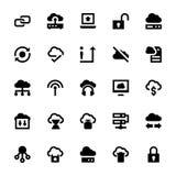 Ícones 3 do vetor da tecnologia dos dados da nuvem Fotos de Stock