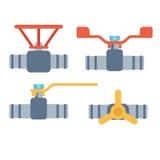 Ícones do vetor das tubulações isolados Fotografia de Stock Royalty Free