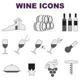Ícones do vinho Imagens de Stock Royalty Free