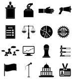Ícones do voto da eleição ajustados Imagem de Stock