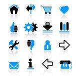 Ícones do Web Fotografia de Stock Royalty Free