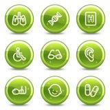 Ícones do Web da medicina ajustados Imagens de Stock Royalty Free