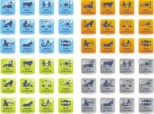 Ícones do zodíaco Fotografia de Stock Royalty Free