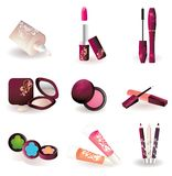Ícones dos cosméticos Fotos de Stock Royalty Free