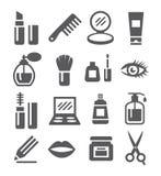 Ícones dos cosméticos Fotos de Stock