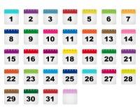 Ícones dos dias de calendário Foto de Stock Royalty Free