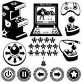 Ícones dos jogos de arcada Imagens de Stock