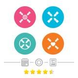 Ícones dos trabalhos de equipa Símbolos das mãos amiga Imagens de Stock Royalty Free