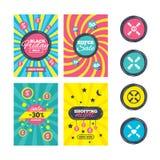 Ícones dos trabalhos de equipa Símbolos das mãos amiga Foto de Stock Royalty Free