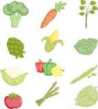 Ícones dos vegetais Fotografia de Stock