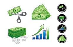 Ícones e símbolos do negócio Imagens de Stock