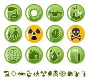 Ícones ecológicos Fotografia de Stock Royalty Free