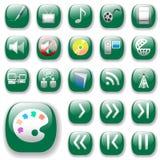 Ícones, jogo da arte dos media de Digitas Imagens de Stock Royalty Free
