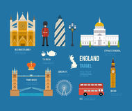 Ícones lisos de Reino Unido Imagem de Stock