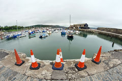 Cones At Lyme Regis Harbour Stock Photography