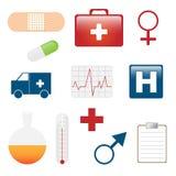 Ícones médicos Imagens de Stock