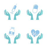 Ícones médicos Imagens de Stock Royalty Free