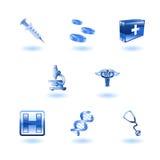 Ícones médicos brilhantes Imagem de Stock Royalty Free