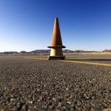 Cones no alcatrão do aeroporto Imagens de Stock Royalty Free