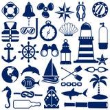 Ícones náuticos Fotografia de Stock Royalty Free