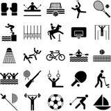 Ícones olímpicos dos esportes Fotos de Stock Royalty Free