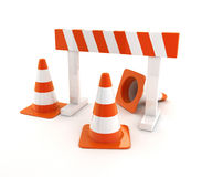 Cones orange Royalty Free Stock Photography