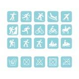 Ícones para o projeto da roupa do esporte Imagens de Stock Royalty Free