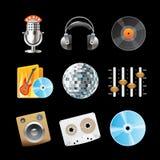 Ícones para o som Fotos de Stock Royalty Free