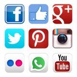 Ícones sociais dos meios Foto de Stock