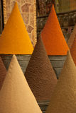 Cones of Spices Stock Photography