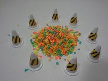 Cones surroundings soil Stock Image
