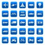 Ícones/teclas do transporte Imagem de Stock Royalty Free