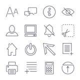 ?cones universais diferentes para apps, locais, programas e outro Curso edit?vel ilustração royalty free