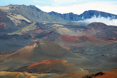 Cones vulcânicos da cinza Fotografia de Stock