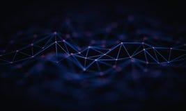 Conexão abstrata da tecnologia do fundo ilustração stock