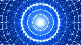 Conexão abstrata do círculo rendição 3d Imagens de Stock