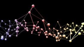 Conexão abstrata do fundo da tecnologia de rede