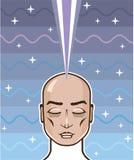 Conexão astral do poder da mente ilustração royalty free