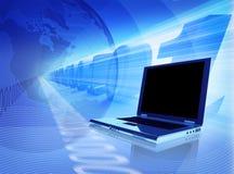 Conexão azul Foto de Stock