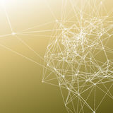 A conexão branca pontilha com linhas no inclinação caqui na moda da cor Foto de Stock