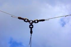 Conexão Chain com o fio de metal Imagem de Stock Royalty Free