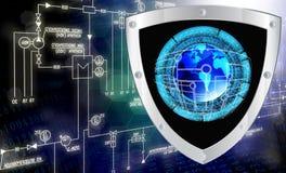Conexão. Cybersecurity ilustração stock
