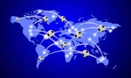 Conexão da bola do mundo Fotografia de Stock Royalty Free
