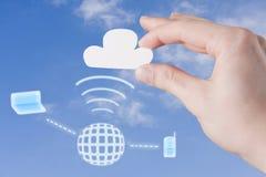 Conexão da nuvem Imagem de Stock