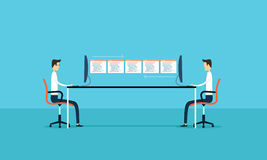 a conexão de negócio tornam-se e a aplicação da manutenção Imagem de Stock