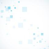 Conexão de rede da cor do vetor e átomo do ADN Fotografia de Stock Royalty Free