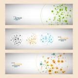 Conexão de rede da cor do vetor e átomo do ADN Fotos de Stock