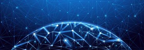 Conexão de rede global ilustração stock