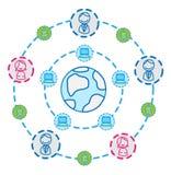 Conexão do Internet do globo   ilustração do vetor