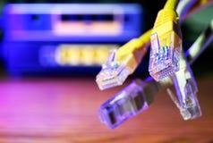 Conexão do lan do cabo Fotos de Stock